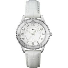 Timex Ladies White 3 Hand Sport Watch Leather Strap New & Boxed  Warranty
