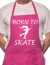 Born To Skate Ice Skating BBQ Cooking Funny Novelty Apron
