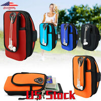 Wrist Arm Band Wallet Bag Pouch Case For Cellphones Sports Gym Cycling Running