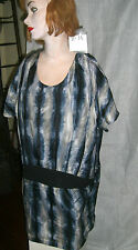 Aryn K Flowing Silk Designer Short Dress/Tunic Large