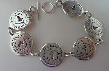 "7"" Sterling Silver 34gram says Lord Bless You Keep You Numbers 6:24 Bracelet"