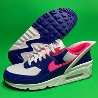 Nike Air Max 90 Flyease Shoes Hyper Pink Deep Royal Blue CU0814 101 Men's 8.5