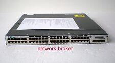 Cisco WS-C3750X-48T-L  48 Port GB  + Netzteil C3KX-PWR-350WAC + C3KX-NM-1G Modul