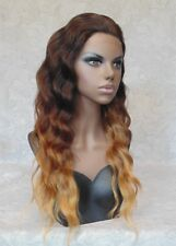 OUTRE: Lace Front Long Brown Ombre High Heat Full Synthetic Wig - JOYCE