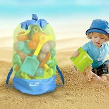 EocuSun Portable Sand Away Carry All Kids Toys Mesh Tote Large Beach Storage Bag