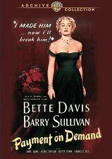 PAYMENT ON DEMAND (1951 Bette Davis) -  Region Free DVD - Sealed
