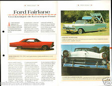 Ford Fairlane 500 Skyliner Cabriolet Coupe 6 Cyl. USA Car Auto FICHE FRANCE