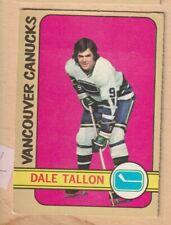 HOCKEY CARD NHL 1972-73 DAVE TALON  VANCOUVER CANUCKS  OPC  #121