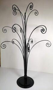 Fountain Tree Metal Static Display Stand Jewellery Swarovski Suncatchers - BLACK