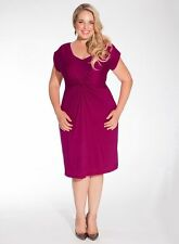 Igigi Dress Plus Size 3X 22 24 Purple Lilah Style Ruched Cap Sleeve