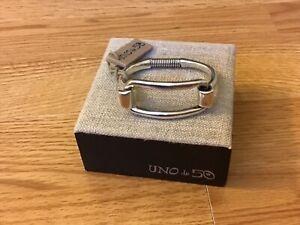 "Uno de 50 Silver-plated Rectangular Bracelet ""Swan"""
