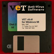 VINTAGE VET Anti-Virus Software v9.41 For Microsoft Windows 95 Cybec / C A Tech!
