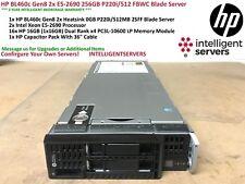 HP BL460c Gen8 2x E5-2690 256GB P220i/512 FBWC Blade Server 641016-B21