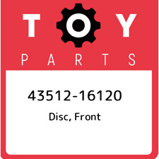 43512-16120 Toyota Disc, front 4351216120, New Genuine OEM Part