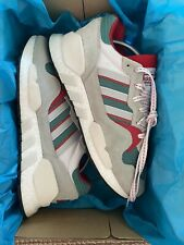 MENS RUNNING SHOES ADIDAS ZX930xEQT ASH GREEN COLLEGIATE RED SIZE: 9