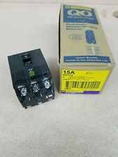 1 New Square D Qo Qo315 3 Pole 15 Amp Circuit Breaker Black Snap In