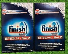 (3,29€/kg) 2x Finish Calgonit Spezial Salz Schutz Kalkablagerungen 1,2kg Vers.0€