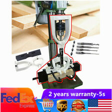New listing Us Woodworking Drilling Tenon Joint Locator Bench Drill Machine Hole Jig Set