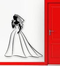 Wall Sticker Vinyl Decal Wedding Family Registry office Bride Girl (ig1835)