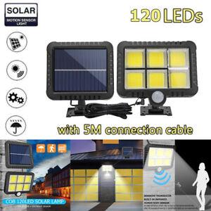 120 LED Solar Floodlight Motion Sensor Security Detector Spot Light Outdoor Lamp