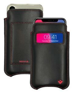 iPhone 11 Pro Case   iPhone X/Xs Case BLACK Leather NueVue Sanitizing WALLET