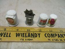 VTG Lot Thimbles Pewter Baltimore Ship St. Croix Spendour Seas Butchart Gardens