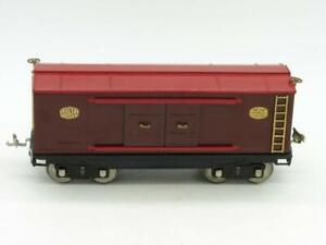 Lionel Standard Gauge Restored 214 Automobile Furniture Box Car Brown and Red