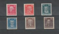 [73207] GERMANY Regular Issue Scott #355-358, 361, 362  Unused Heavy Hinged