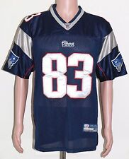 WES WELKER PATRIOTS REEBOK ON FIELD JERSEY (HOME) SIZE 48 SEWN QUALITY STITCHING