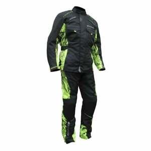 Wulfsport Alpina-X Adventure Enduro Motor Bike Waterproof Jacket & Pants Yellow