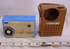 ALPHA BABY BLUE MODEL M6M TRANSISTOR RADIO WITH LEATHER CASE