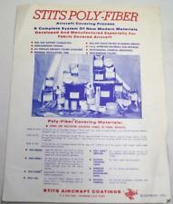 STITS AIRCRAFT COATINGS COMPANY ADVERTISING SALES BROCHURE PRICE LIST 1972