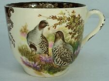 """PALISY china GAME SERIES patten OVERSIZED CUP 3-5/8"""" x 4-3/8"""" Quail & Duck"""