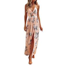 Sexy Women Summer Boho Long Maxi Dress Evening Party Dress Camisole Beach Dress