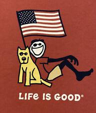 """Life is Good Red CRUSHER Tee S/S """"WEEKEND WARRIOR"""" T-Shirt men's XXL"""
