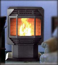 New Bayfront Pellet Stove Fireplace Fire Place Furnace w/ Automatic Thermostat