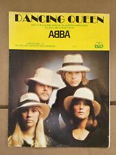 "Abba ""Dancing Queen"" original vintage sheet music . 1976"