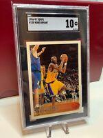1996 Topps Basketball Kobe Bryant ROOKIE RC #138 SGC 10 = PSA 10