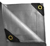 UST Heavy Duty Canopy Tarp 12' x 30' Rain Tarp Sun Protection Shade Cover SLVR*