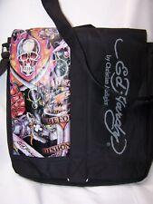 Vintage Men's Ed Hardy Messager Bag Carry Case Christian Audigier Shoulder Bag