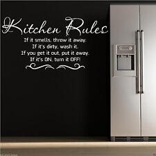 KITCHEN RULES Wall Art Sticker Kitchen Quote  Mural Stencil Transfer WSD506