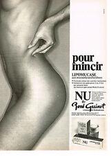 PUBLICITE ADVERTISING 034   1979   RENE GUINOT  cosmétiques NU pour mincir