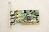 SCHEDA CONTROLLER 3 + 1 PORTE FIREWIRE IEEE 1394 PCI usata.