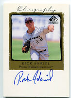 1998 Upper Deck SP Top Prospects RICK ANKIEL Chirography On Card Auto Rookie RC
