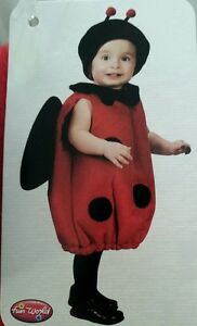 Ladybug Halloween Tunic Costume Infant Toddler Preschool  Red 24 Mo