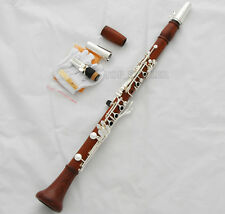 Professional Rose Wooden 19 Key Bb Clarinet Boom System With Metal Mouthpiece