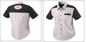 Victory Motorcycles - Women's / Ladies Mechanic Shirt - Black / Grey - SMALL (S)