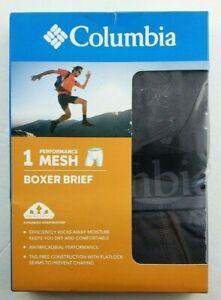 Columbia Men's Boxer Brief Dark Grey Large XXL Performance Mesh Stretch MSRP$26
