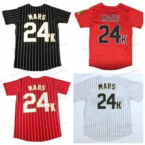 Bruno Mars #24K Hooligans Baseball Jersey men's Shirt Stitched 4 Colors