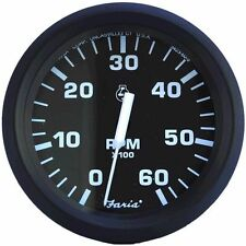 Faria Euro Tachometer Gas Inboard and I/O 6,000 RPM 32804 MD